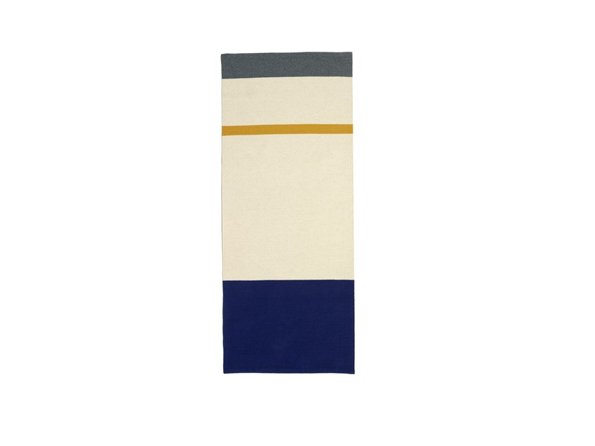 Handmade rectangular striped wool rug LUCY by valerie_objects