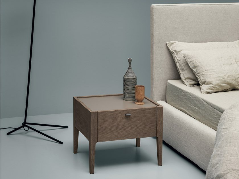 Lacquered bedside table with drawers LUDWIG | Bedside table by Md House