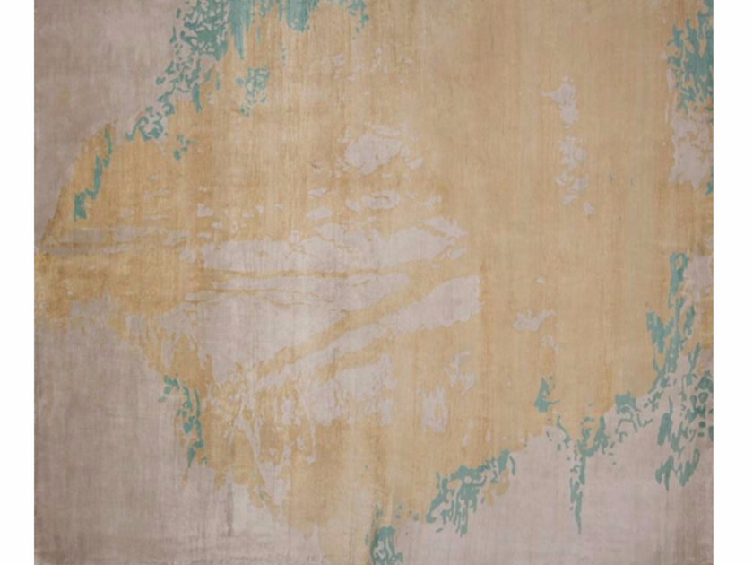 Handmade rectangular rug LUGANO LIGHT BLUE by EDITION BOUGAINVILLE