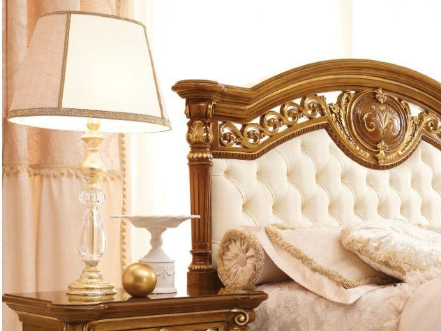 Gold leaf bedside lamp LUIGI XVI | Bedside lamp by Valderamobili