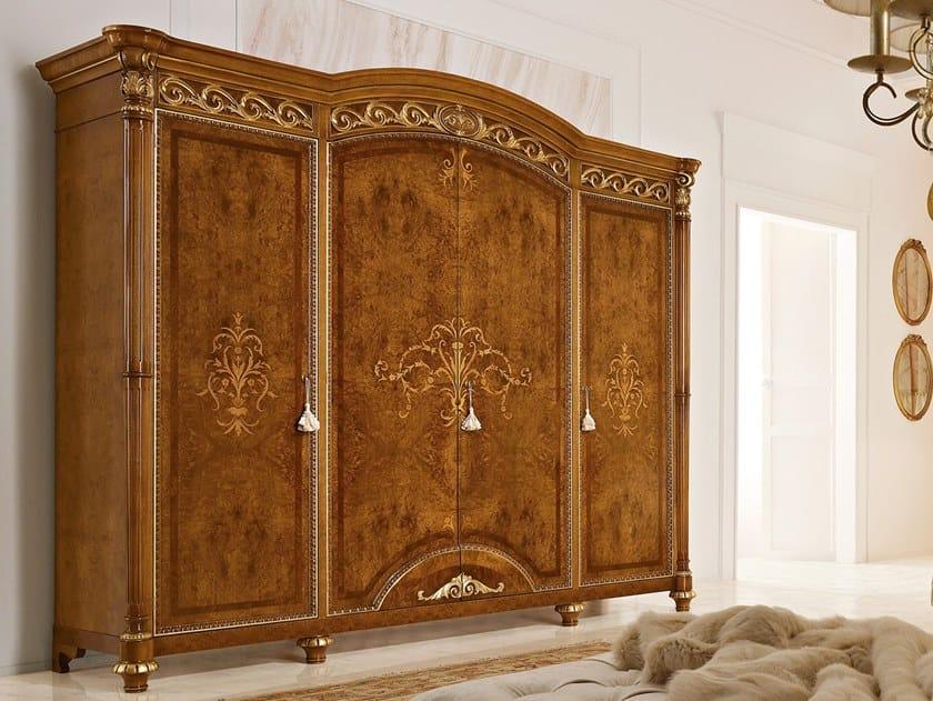 Walnut wardrobe LUIGI XVI | Wardrobe by Valderamobili