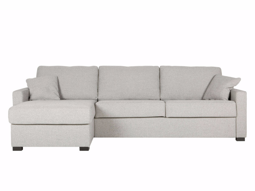 Upholstered 3 seater fabric sofa bed with chaise longue LUKAS | Sofa bed with chaise longue by SITS