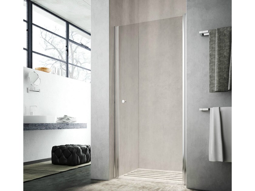 Shower cabin with hinged door LULA UF by Glass1989