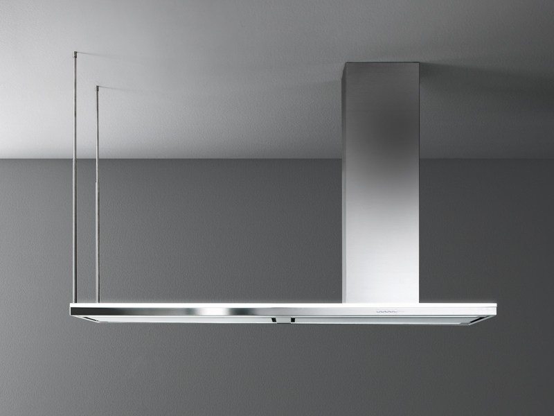Stainless steel island hood LUMEN ISOLA 175 by Falmec