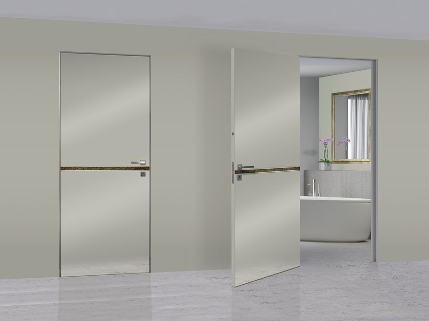 Hinged lacquered door LUMIÈRE by DIERRE