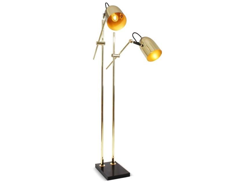 Adjustable brass floor lamp LUMPUR by Creativemary