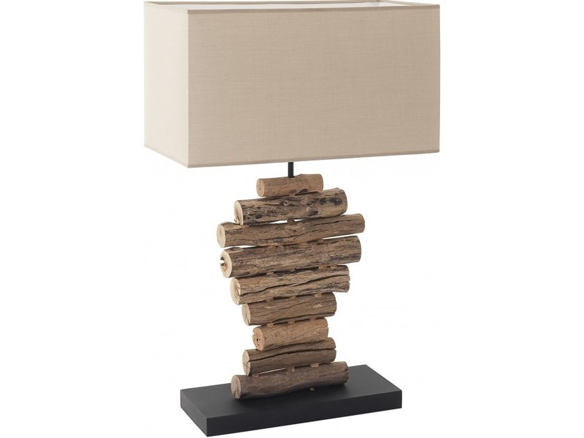 Wooden table lamp LUMPUR by Flam & Luce