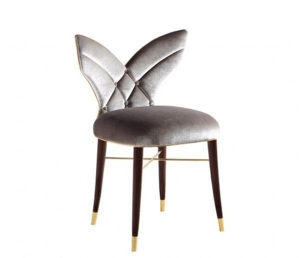 Upholstered fabric chair LUNA | Chair by Ottiu