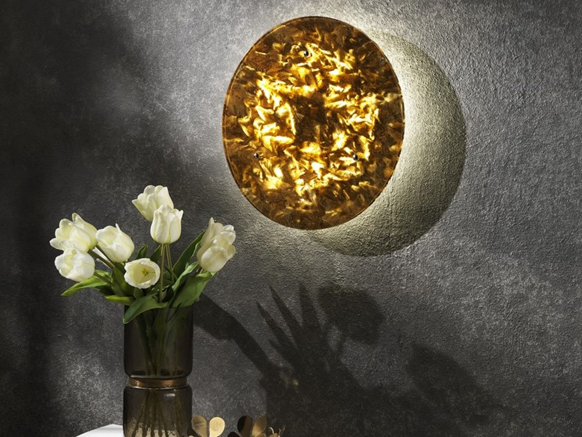 Natural stone wall light LUNA by Crystal Stone