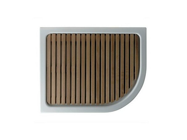 Slatted wooden shower tray LUNA DX   Slatted shower tray by GALASSIA