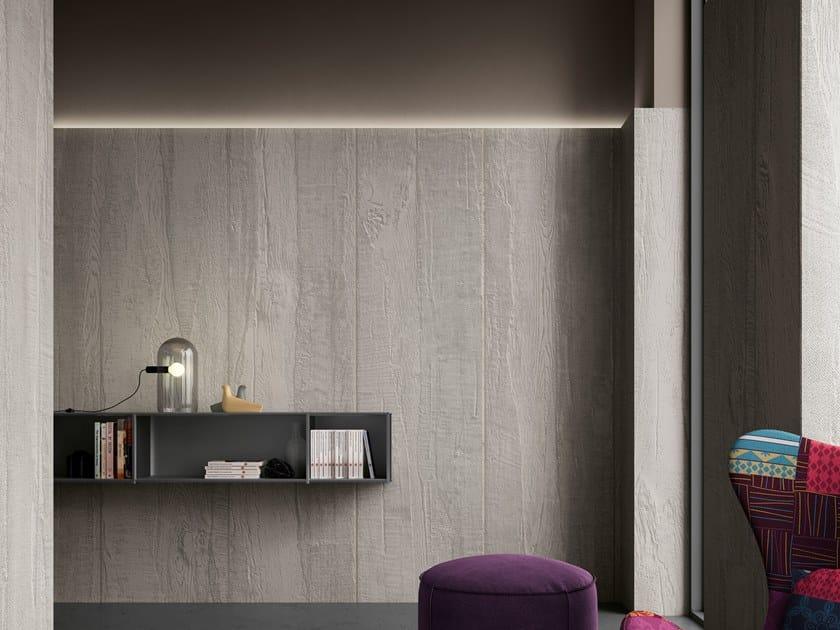 Wood effect Digital printing wallpaper LUND by Tecnografica Italian Wallcoverings