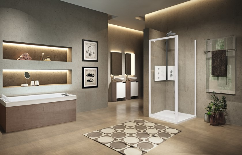 Contemporary style glass shower cabin LUNES 2.0 G+F by NOVELLINI