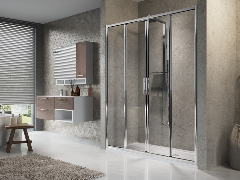 Niche shower cabin with sliding door LUNES 2A by NOVELLINI
