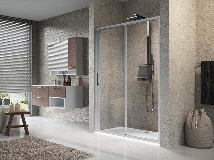 Niche shower cabin with sliding door LUNES 2P by NOVELLINI