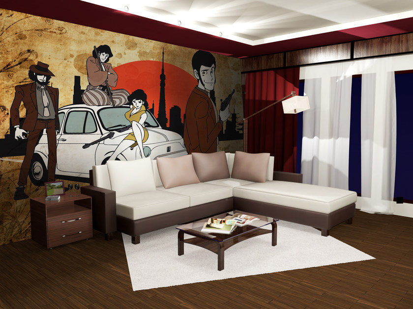 Adhesive washable wallpaper LUPIN15 by Wall LCA