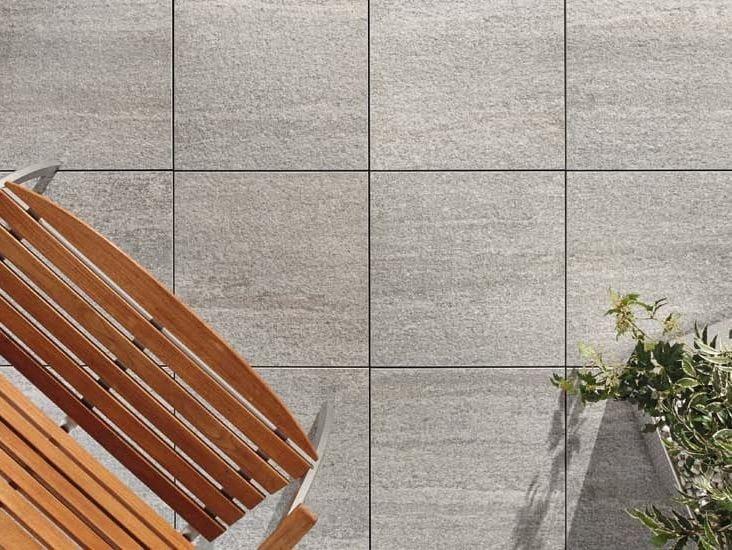 Outdoor floor tiles with stone effect LUSERNA BAGNOLO by GRANULATI ZANDOBBIO