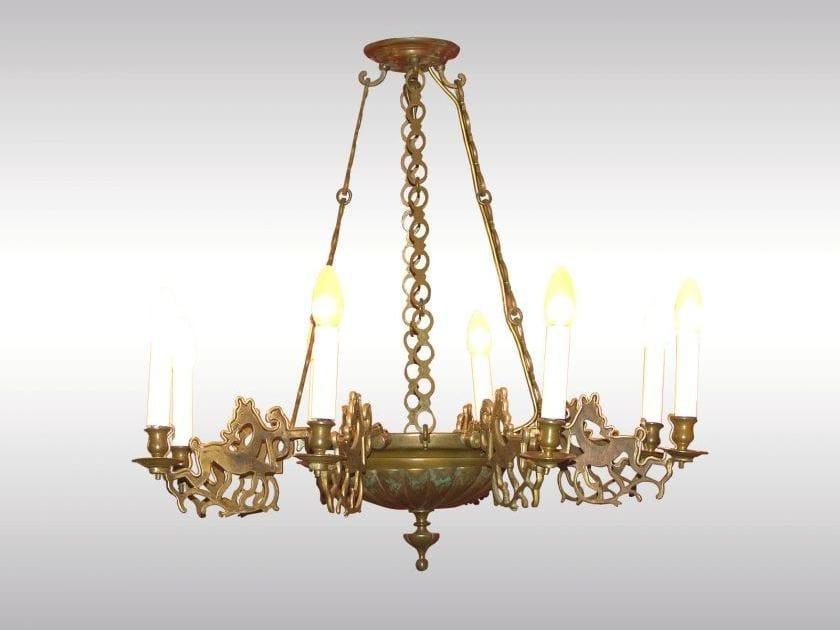 Classic style bronze chandelier LUSTER IM GOTISCHEN STIL by Woka Lamps Vienna