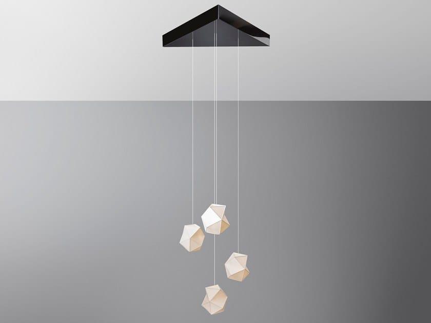 LED Polymeric pendant lamp LUSTRE 4 ZAPHIROS by OCTAVIO AMADO