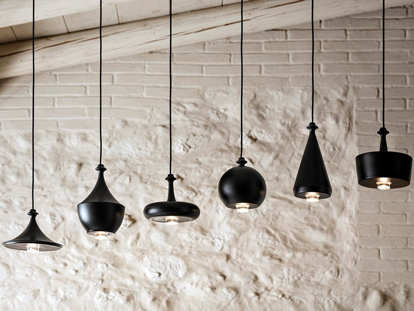 Ceramic pendant lamp LUSTRINI - LINEAR MULTIPLE CANOPY by Aldo Bernardi