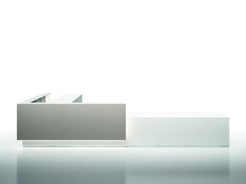 Modular Office reception desk with Built-In Lights LUX 2 by Bralco