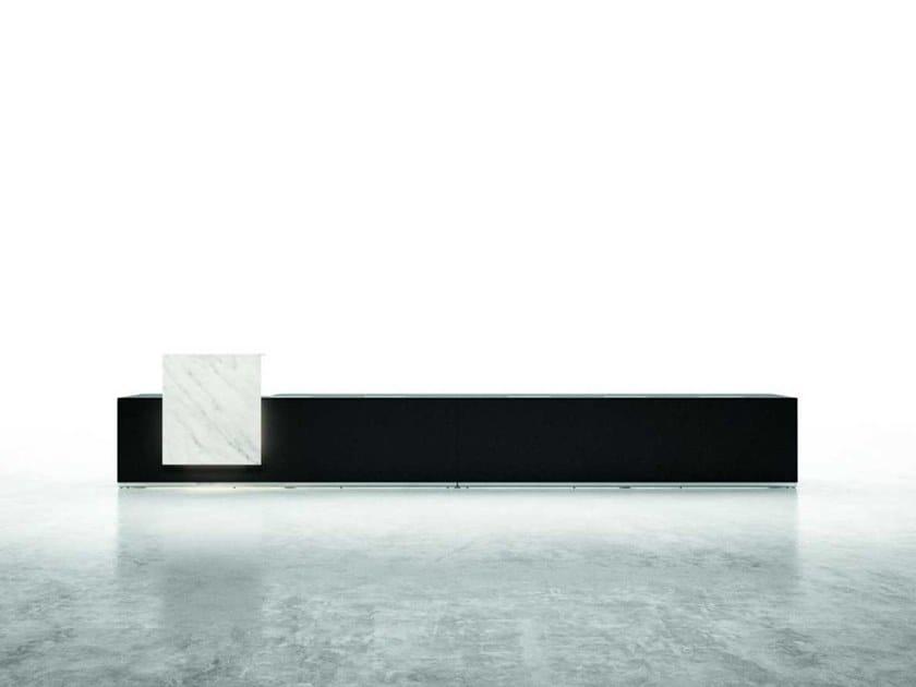 Banco reception per ufficio modulare con illuminazione lux 3 bralco
