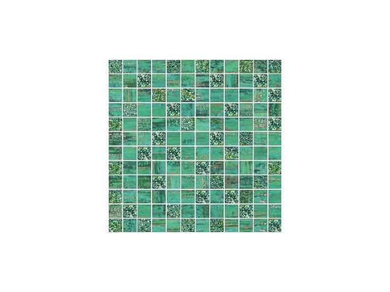 Porcelain stoneware mosaic LUX VERDE by CERAMICHE BRENNERO