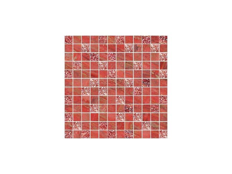 Porcelain stoneware mosaic LUX ROSSO by CERAMICHE BRENNERO