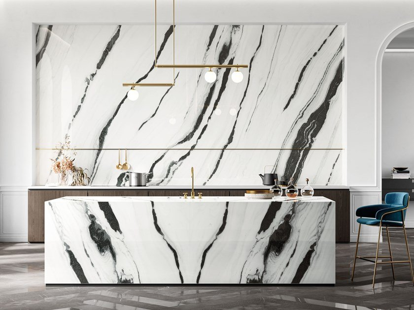 Porcelain Stoneware Wall Floor Tiles With Marble Effect Lux Experience Panda White Lux Experience Collection By Italgraniti