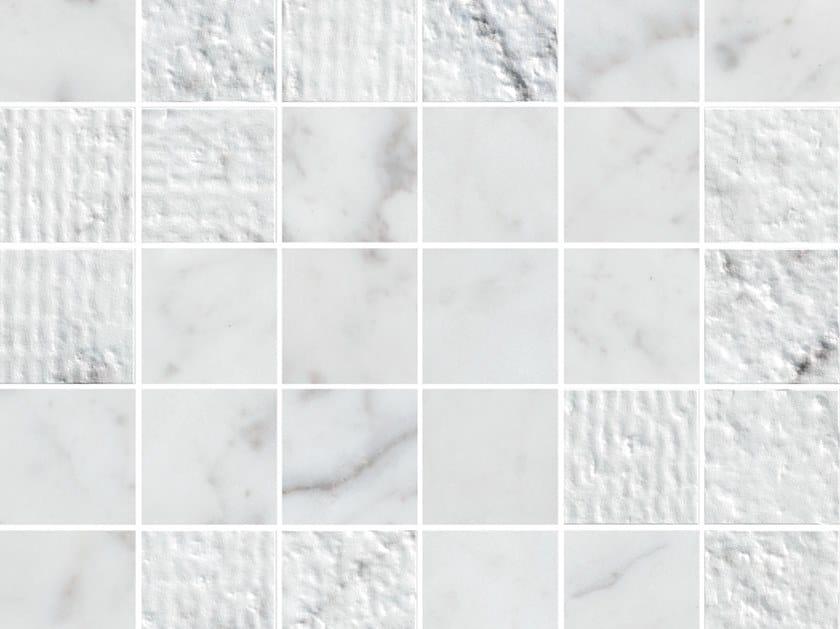 White-paste mosaic LUX EXPERIENCE WALL STATUARIETTO | Mosaic by Impronta Ceramiche