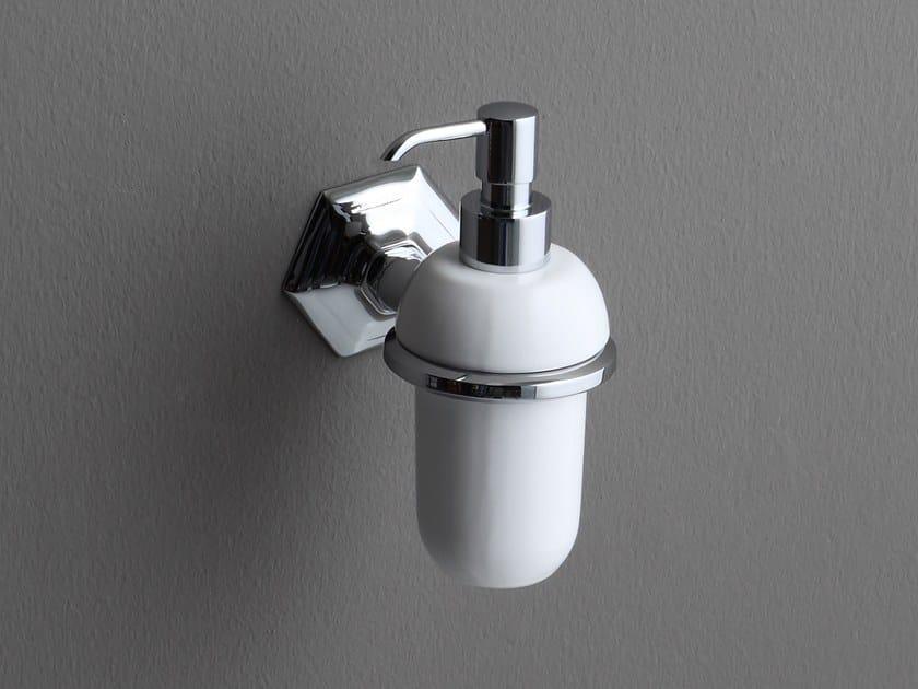 Wall-mounted ceramic liquid soap dispenser LUX   Wall-mounted liquid soap dispenser by BLEU PROVENCE