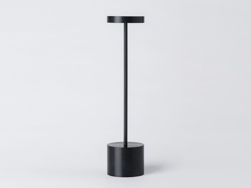 Led Aluminium Table Lamp Cordless Luxciole Tall By Hisle Design Hervé Isle De Beauchaine