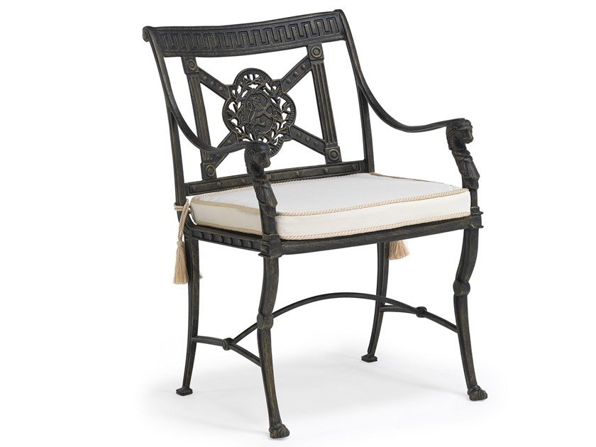 Aluminium garden chair with armrests LUXOR | Chair by Oxley's Furniture