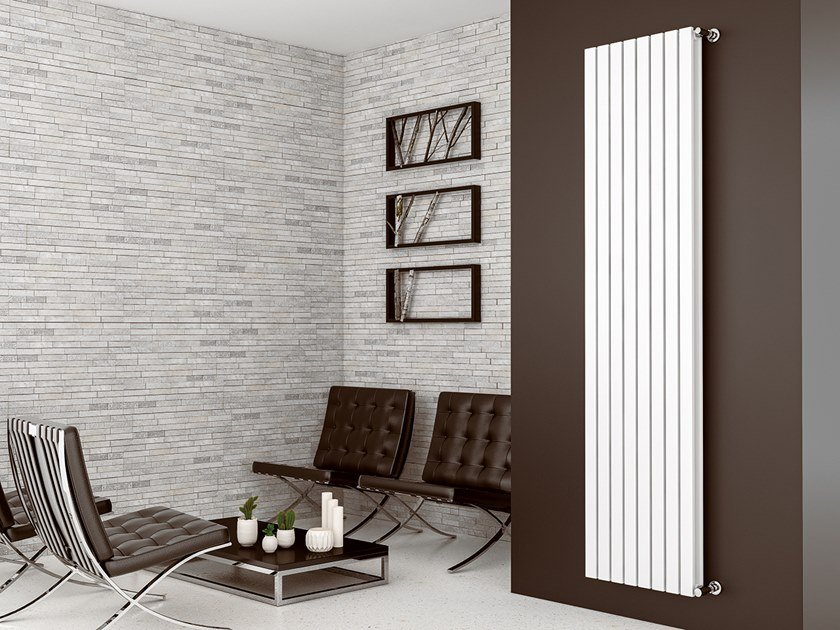 Vertical wall-mounted steel decorative radiator LUXOR DOPPIO by XÒ by Metalform