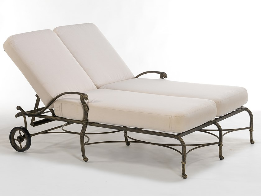 Double Recliner aluminium garden daybed LUXOR | Double garden daybed by Oxley's Furniture