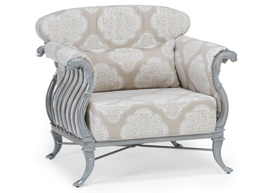 Aluminium garden armchair with armrests LUXOR | Garden armchair by Oxley's Furniture