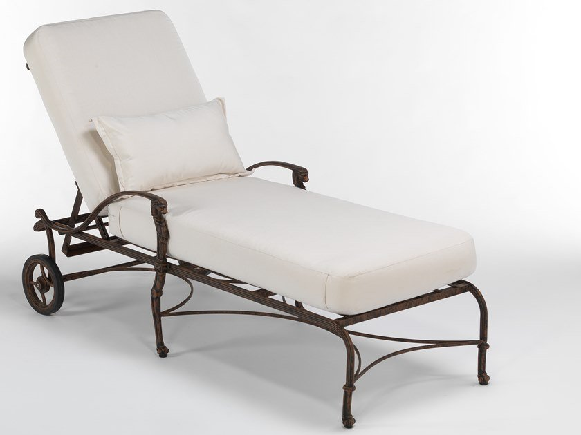 Recliner aluminium garden daybed with armrests LUXOR   Garden daybed by Oxley's Furniture