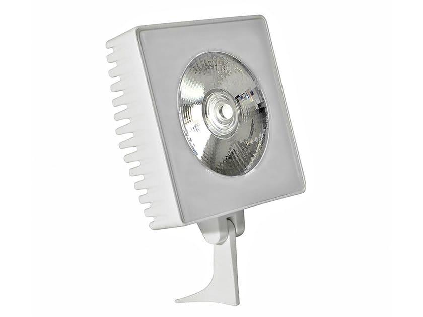 Proiettore per esterno a LED orientabile in alluminio LUXOR L3 ONE by Aldabra