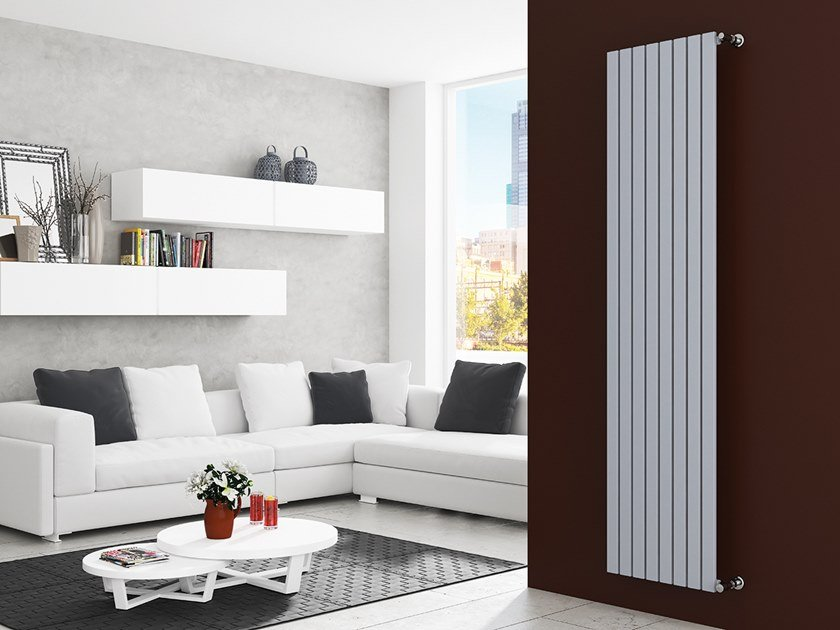 Vertical wall-mounted steel decorative radiator LUXOR by XÒ by Metalform