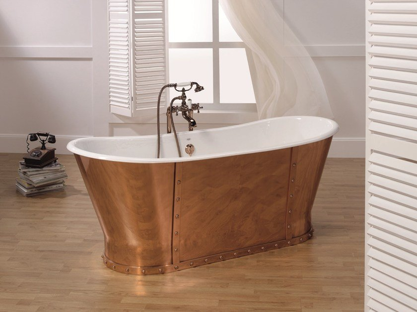 Vasca Da Bagno In Rame Prezzi : Luxury copper collezione vasche freestanding by bleu provence