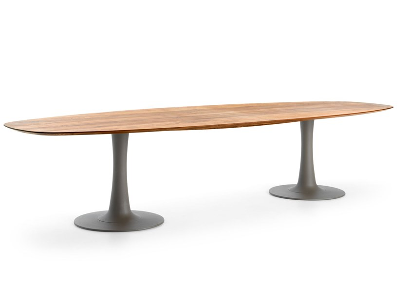 Oval solid wood meeting table LX 627 by LEOLUX LX