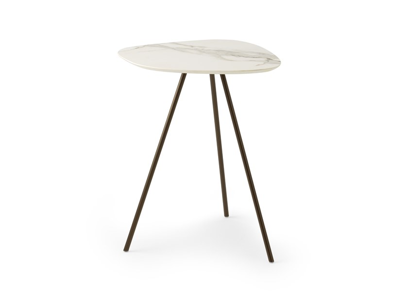 Ceramic materials high side table LX611 | Ceramic materials coffee table by LEOLUX LX