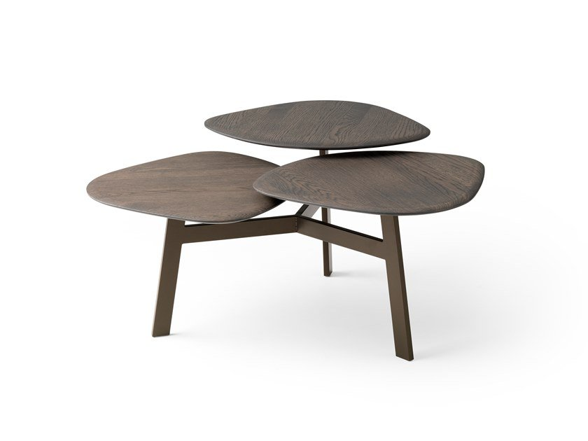 Swivel oak coffee table LX628 | Oak coffee table by LEOLUX LX