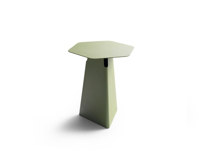 Hexagonal epoxy paint steel high side table LX635 | Hexagonal coffee table by LEOLUX LX