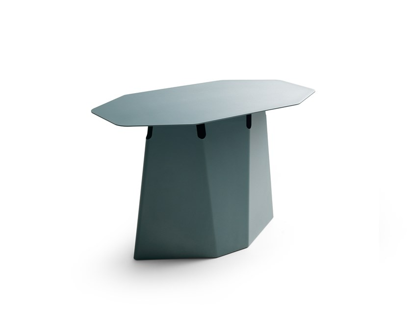 Octagonal epoxy paint steel high side table LX635 | Octagonal coffee table by LEOLUX LX
