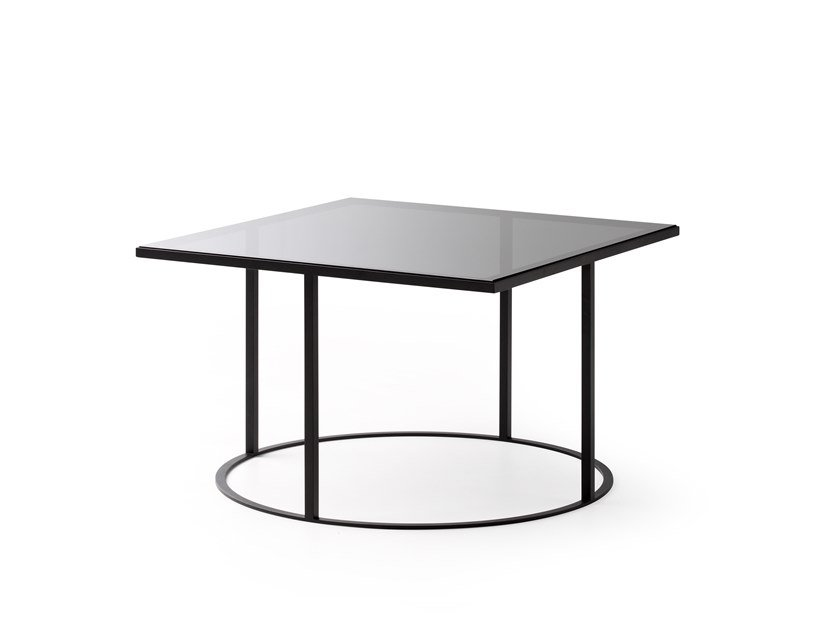 Low square glass coffee table LX641 | Glass coffee table by LEOLUX LX