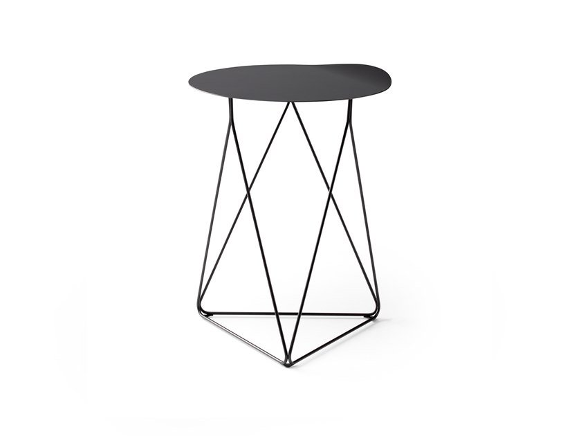 Round steel high side table LX648 | High side table by LEOLUX LX