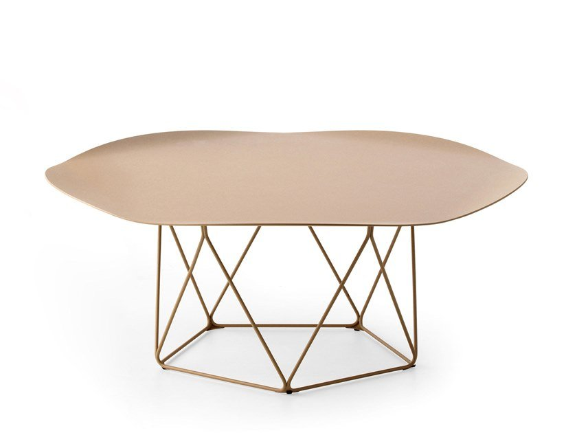 Low steel coffee table LX648 | Low coffee table by LEOLUX LX