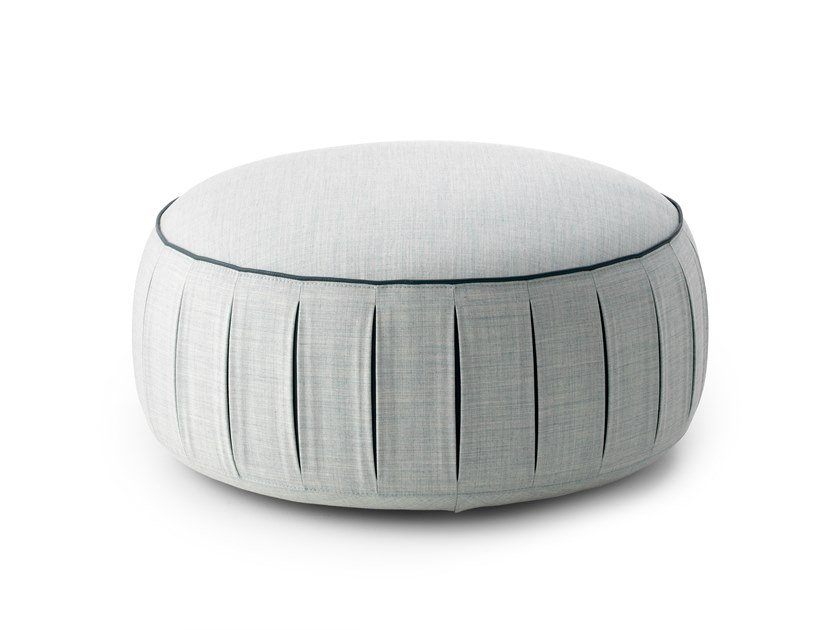 Round fabric pouf with casters LX649 | Fabric pouf by LEOLUX LX