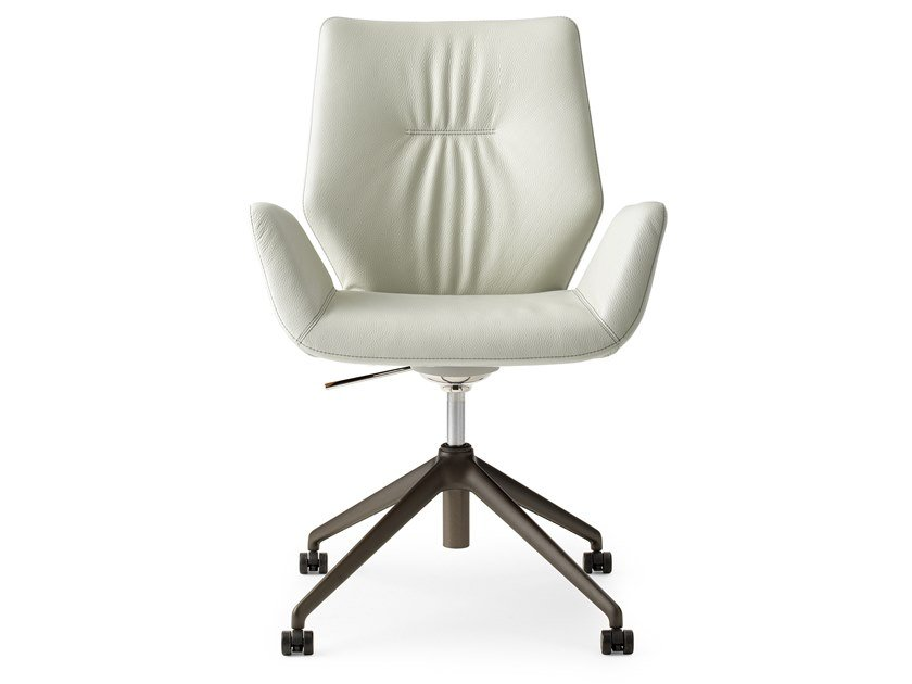 Height-adjustable swivel trestle-based executive chair LXR02 | Executive chair by LEOLUX LX