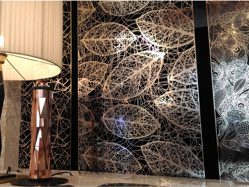 Hanging stainless steel room divider LYMPH by Caino Design